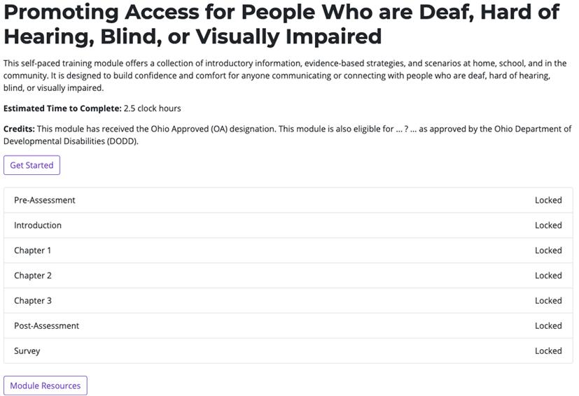 Promoting Access Screenshot